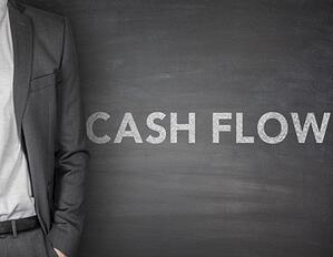"""a blackboard showing the words """"cash flow"""