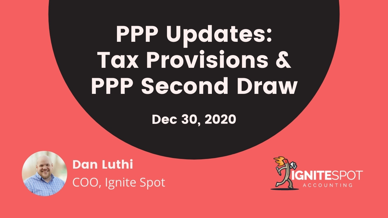 PPP Second Draw & Tax Provisions